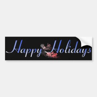Happy Holiday Bumper Sticker