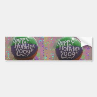 happy holiday car bumper sticker