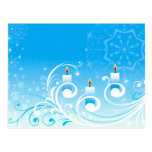 Happy Holiday Candles Postcards