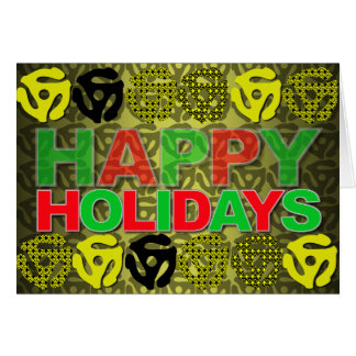 Happy Holiday Card 45 Record Insert