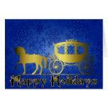 Happy Holiday Carriage Card