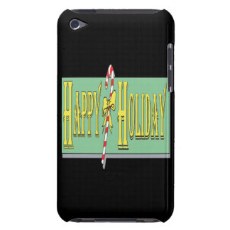 Happy Holiday Barely There iPod Cases