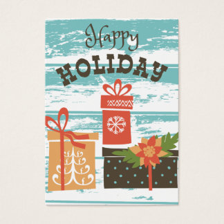Happy Holiday Christmas Holiday Presents Business Card