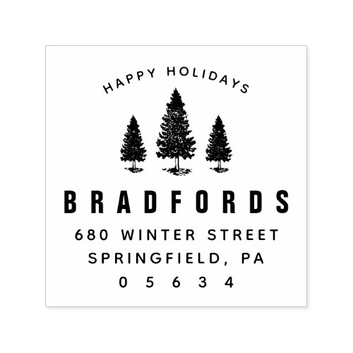 Happy Holiday Create Your Own Return Address Self_inking Stamp
