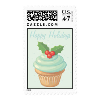 Happy Holiday Cupcake Postage