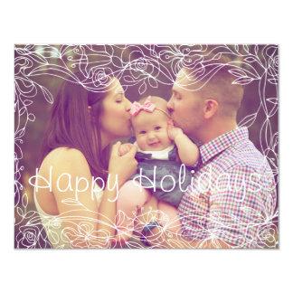 Happy Holiday Custom Photo Card With Border