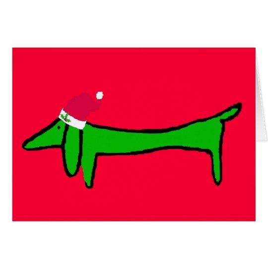 Happy Holiday Dachshund Card