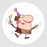 Happy Holiday Dance Lady at New Year's Day Stickers