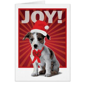 Happy Holiday Dog - Jack Russell Santa Greeting Card
