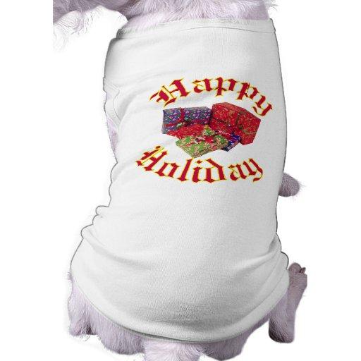 Happy Holiday Doggie T Shirt