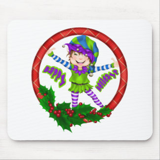 Happy Holiday Elf Mouse Pad