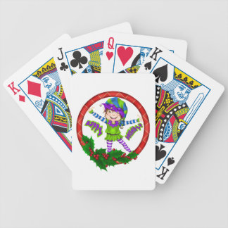 Happy Holiday Elf Poker Deck