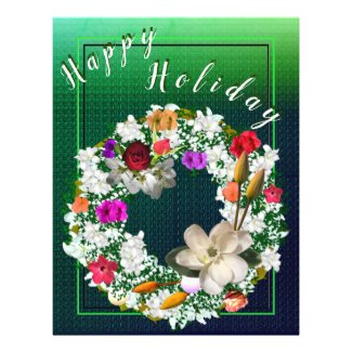 Happy Holiday Floral Reef Flyer
