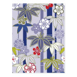 Happy Holiday Flower 3 Japanese Floral Pattern Postcards