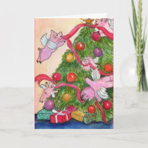 Happy Holiday Flying Pigs DecorateTree