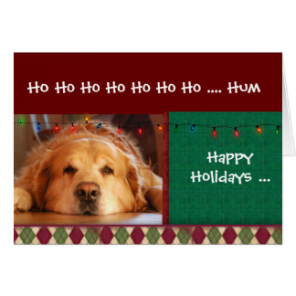 Happy Holiday from the dog Dog Cards