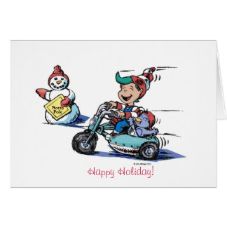 Happy Holiday Gary the Elf Greeting Card