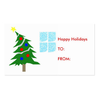 Happy Holiday Gift Tag Double-Sided Standard Business Cards (Pack Of 100)