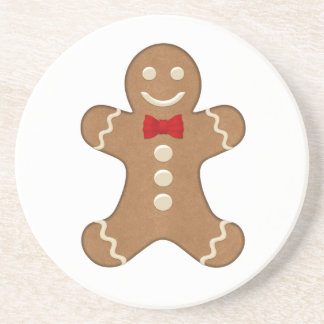 Happy Holiday Gingerbread Cookie Sandstone Coaster