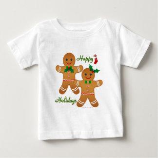 Happy Holiday Gingerbread Man Boy Girl Baby T-Shirt