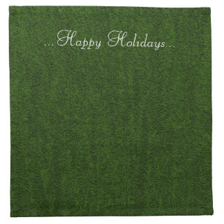 Happy Holiday Green Cocktail Napkins
