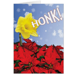 Happy Holiday Honking Daffodil Card
