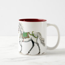 Happy Holiday Icelandic horse Two-Tone Coffee Mug