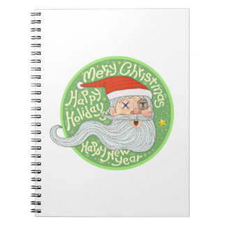 Happy Holiday Merry Christmas New Year Santa Claus Notebook