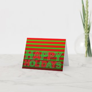 Happy Holiday Modern Card Neon Camaflage card