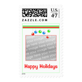 Happy Holiday Ornaments Photo Frame Postage