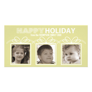 Happy Holiday Photo Card - sour apple
