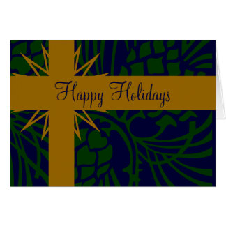 Happy Holiday Pinecone Present Greeting Card