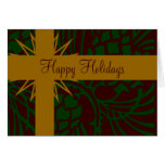 Happy Holiday Pinecone Present II Card