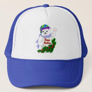 Happy Holiday Polar Bear Trucker Hat