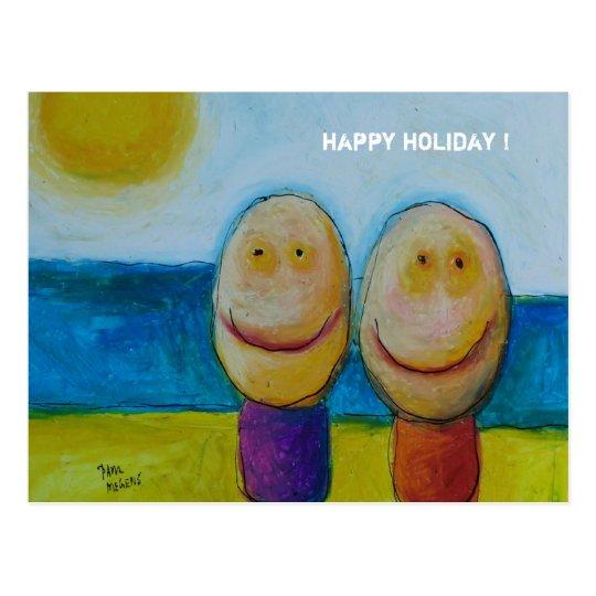happy holiday ! postcard