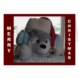 HAPPY HOLIDAY PUP SAYS SPECIAL CHRISTMAS WISHES CARD