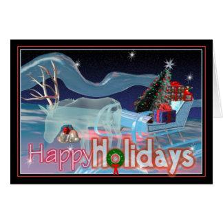 Happy Holiday Raindeer Card