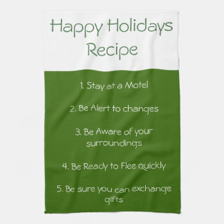 Happy Holiday  recipe towel