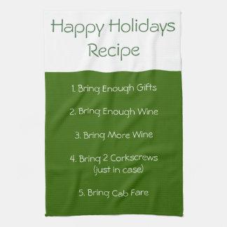 Happy Holiday  recipe towel  II