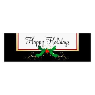 Happy Holiday Recycle Double-Sided Mini Business Cards (Pack Of 20)