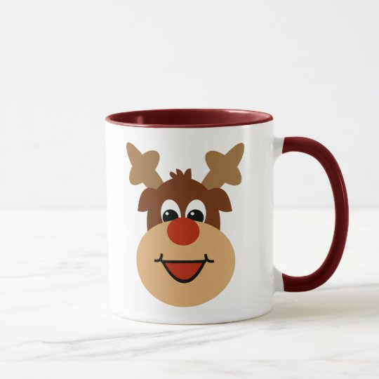 Happy Holiday Reindeer Mug
