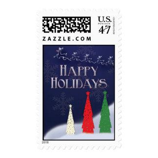 Happy Holiday reindeer stamp