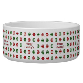 Happy Holiday's with a snowflake pattern Bowl