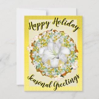Happy Holiday Seasonal Greetings Yellow Reef