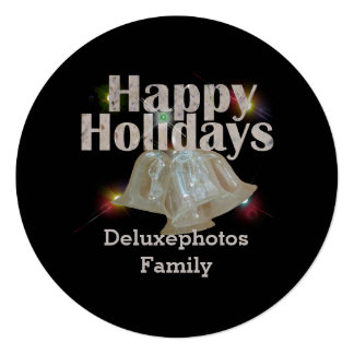 Happy Holiday Silver Bells Card