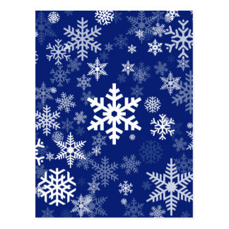 Happy Holiday Snowflakes Pattern for Everyone Postcard