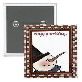 Happy Holiday Snowman Pins