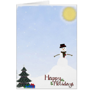 Happy Holiday Snowman Card