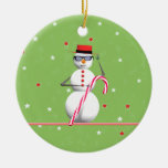 Happy Holiday Snowman Christmas Tree Ornament