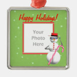 Happy Holiday Snowman (photo frame) Ornament